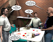 Family Poke Her Night Comic