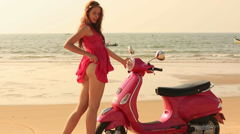 Isabella - Beach and Scooter