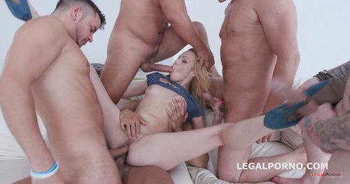LegalPorno.com -  Total DAP Destruction with Rebecca Sharon, almost only DAP and gapes, she is a monster! GIO419