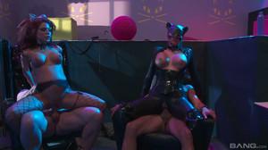 Alexa Nicole, Madelyn Marie - BatFXXX: Dark Knight Parody sc3, HD, 720p