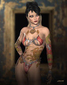 Sexy gorgeous 3d girls by the artist anson7