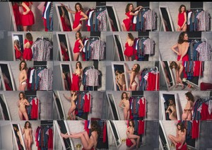 Alex-Lynn Clarice Behind The Scenes Red Dress