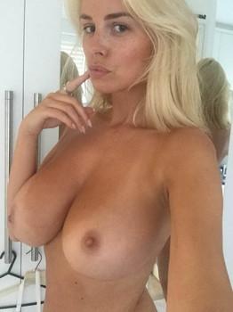 Rhian Sugden big boobs topless selfie HQ