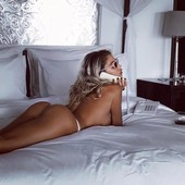 cute girl with hot ass on bed